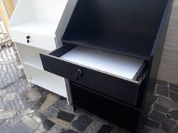 Balcão  caixa  em MDF com gaveta e  chave