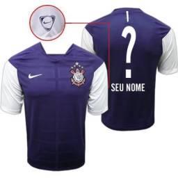 3d336e744a Lote de Camisas do Corinthians Nike Treino Roxa Apresentação Libertadores  Aceito Trocas