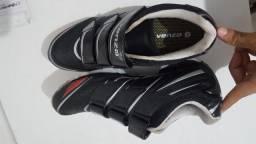 Sapatilha Venzo VSX 3 VelcrosMTB Preto/Vermelho