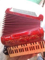 Sanfona acordeon stradella italiana originalíssima