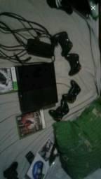 Xbox 360 com 4 controles