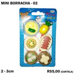 Mini Borracha Frutas e Verduras - Cartela 02