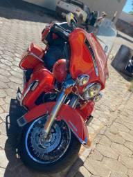 Harley-Davidson electra glide ultra limited 2012/13 laranja extra