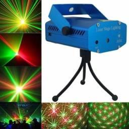 Mini Laser Projetor Led Holográfico Stage Lighting + Fonte