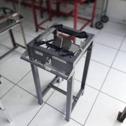 Fogão Semi Industrial Luxo Master 1 Boca de 40x40cm Alta Pressão