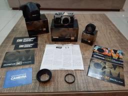 Camera analogica Olympus om1 com lente 50mm 1.4