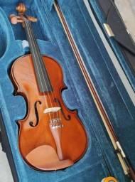 Violino Eagle Ve441 4/4 + Case + Arco + breu + livro de estudos