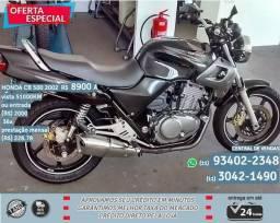 Cinza Honda CB 500 2002 hjd R$8.910-51.010km - 2002