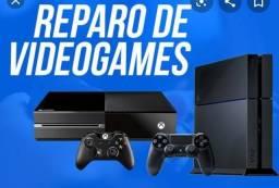 Manutenção em Consoles. Xbox360, Xbox ONE, PS2, PS3 e Playstation 4 ( Loja GameStop )