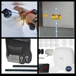 Sistema de Segurança Câmeras, Alarmes, Cercas Elétrica, Portão Eletrônico