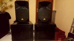 2 caixas de grave falante 18 p / ativo + passivo