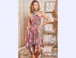 Vestido Floral Viscose Novo M