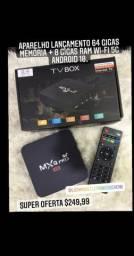 TV BOX 64GB MEM + 8GB RAM AND.10.1 WI-FI 5G, LOJA EM CACHOEIRINHA