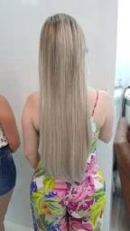 Vendo cabelo brasileiro loiro 60cm/180g.