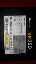 Fonte 750w RM ( Defeito ) selo (gold)