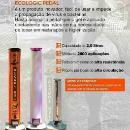 Totem Dispense de álcool gel e galão de 5 litro de álcool gel