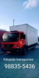 Caminhão baú de transportes e mudanças