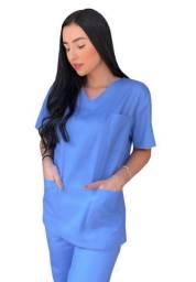 Conjunto Pijama Cirúrgico Unissex Azul Celeste