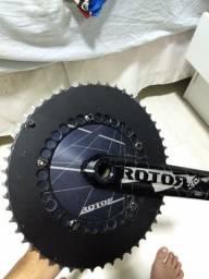 Pedivela Rotor 3d 170mm 53x42 Oval Eixo 24mm(shimano)