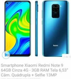Título do anúncio: SMARTPHONE XIAOMI REDMI NOTE 9