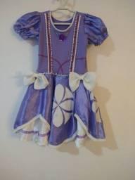 Vestido/Fantasia princesa Sofia