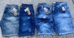 Jeans atacado Bermudas e calças