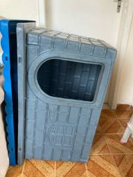 Casa criadora Pet azul e cinza Mokoi média