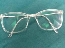 Óculos tranparente de grau