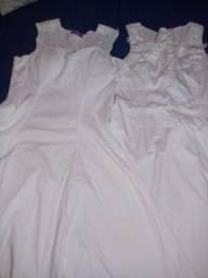 Kit 2 vestido. Branco
