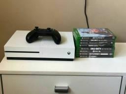 Xbox one,manete paralela,8 jogos originais