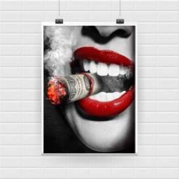 3 Posters Lábios Vermelhos A4 (21cm x 30cm)
