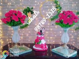 Mesas rústica aluguel de kit para festa casamento