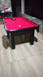 Mesa Tentação Pgto na Entrega Cor Preto Tecido Vermelho Mod. FCSD5218