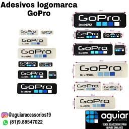 Cartela de adesivo logomarca GoPro