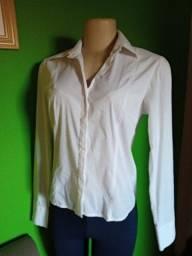 Título do anúncio: Camisa Feminina Manga Longa Branca - M/40