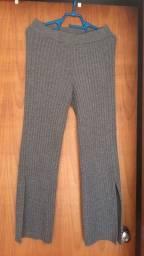 Calça cancelada em malha de lã AMARO
