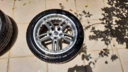 Jogo 4 rodas 17 5x114,3 pneus 235 Impera Mille Miglia
