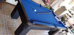 Mesa Charme Semi Cor Preta Tecido Azul Mod. GBZJ2503