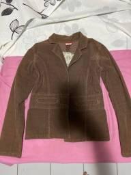 Jaqueta aveludada marrom