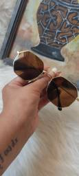 Óculos de sol octagonal Premium unissex