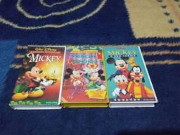 Fitas VHS Coleção Mickey