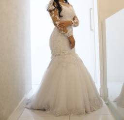 (imperdível !!!) Lindo vestido de noiva modelo sereia da Dayara Oliveira