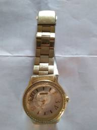 Relógio folhado feminino
