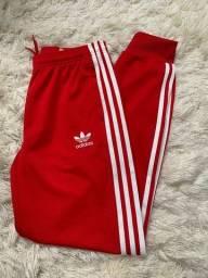 Calça vermelha adidas original