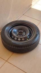 Título do anúncio: Jogo de rodas aro 14 ford 4/108 pneus novos