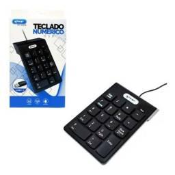 Teclado Numérico Com Fio Usb 2.0 Knup Plug And Play Kp-2003a