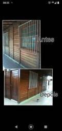 Reforma casa de madeira
