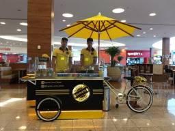 Food bike de sorvete na chapa