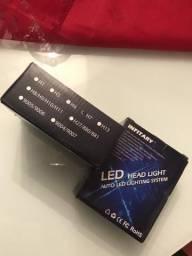 Kit lâmpadas Led H7 farol alto e baixo