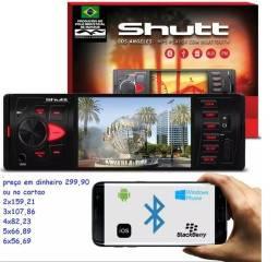MP5 Player Shutt Los Angeles 1 Din 4 Polegadas Bluetooth USB Micro SD Auxiliar P2 MP5 MP4